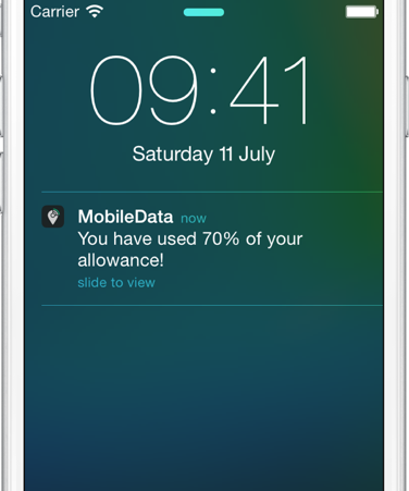 MobileData Push-Notification